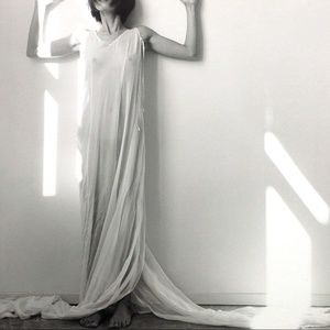MORGANE LE FAY 100% Silk Dress/S/M